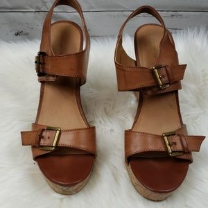 Brown Mossimo Wedge Shoes